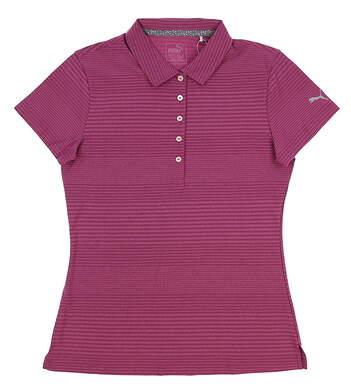New Womens 2018 Puma Pounce Aston Golf Polo Small S Magenta Haze MSRP $50 574772 09