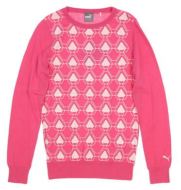 New Womens 2018 Puma Dassler Golf Sweater Small S Carmine Rose MSRP $80 576150 03