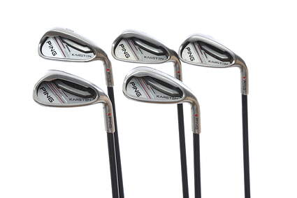 Ping 2014 Karsten Iron Set 8-PW GW SW Accupower Gold Graphite Regular Right Handed Red dot 36 in