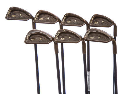Ping ISI Beryllium Copper Iron Set 6-PW SW, LW Ping W54 Shaft Graphite Stiff Right Handed White Dot 38 in