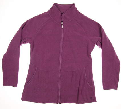 New Womens Straight Down Golf Jacket Large L Purple MSRP $90