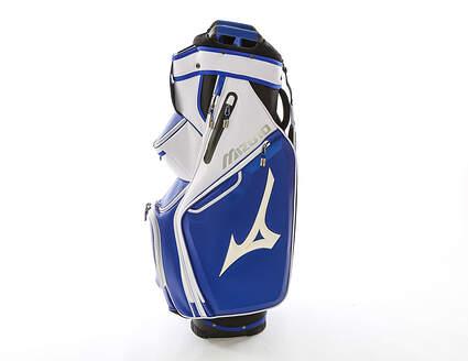 Mizuno Pro Cart Bag White Blue Black Above Average Condition