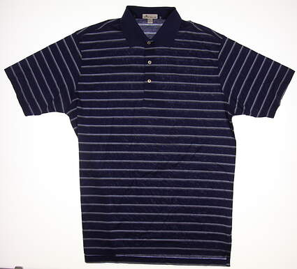 New Mens Peter Millar Golf Polo Large L Blue MSRP $95 MF17K09