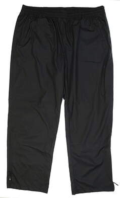 New Mens Adidas Climaproof Rain Pants Size XX-Large XXL Black MSRP $84 B81986