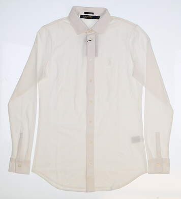 New Womens Ralph Lauren Button Up Medium M White MSRP $85