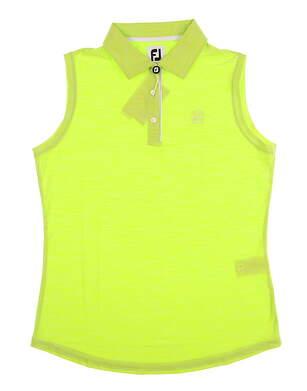New W/ Logo Womens Footjoy Sleeveless Interlock Polo Medium M Green MSRP $75
