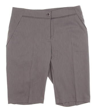 New Womens EP Pro J'Adore Golf Shorts Size 8 Oxford Grey MSRP $85 8640KD
