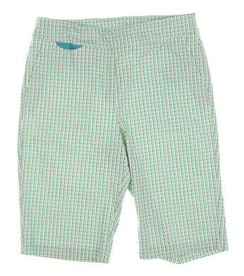 New Womens EP Pro Cassis Golf Shorts Size Large L White Multi MSRP $85 8741LD