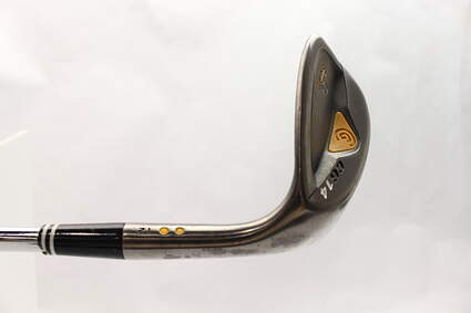 Cleveland CG14 Gunmetal Wedge Lob LW 58* 12 Deg Bounce Cleveland Traction Wedge Steel Wedge Flex Right Handed Yellow Dot 35.5 in