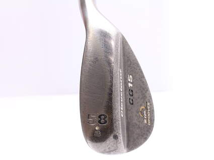 Cleveland CG15 Black Pearl Wedge Lob LW 58* 8 Deg Bounce Cleveland Traction Wedge Steel Wedge Flex Right Handed 35.5 in