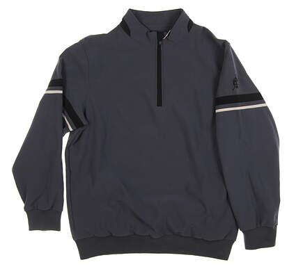 New W/ Logo Mens Bobby Jones 1/2 Zip Pullover X-Large XL Gray MSRP $150 BJ480200