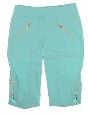 New Womens Jamie Sadock Skinnyliscious Capris Size 8 Neptune Blue MSRP $110