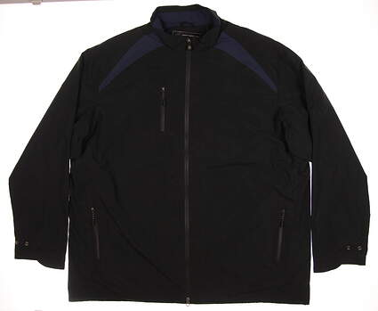 New Mens Greg Norman Rain Jacket XX-Large XXL Black MSRP $150 G7F0J508