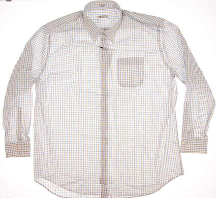 New Mens Peter Millar Button Up X-Large XL Multi MSRP $100