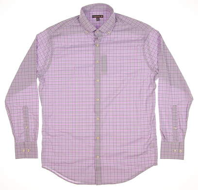 New Mens Peter Millar Button Up Medium M Purple MSRP $135 MS17EW09BL