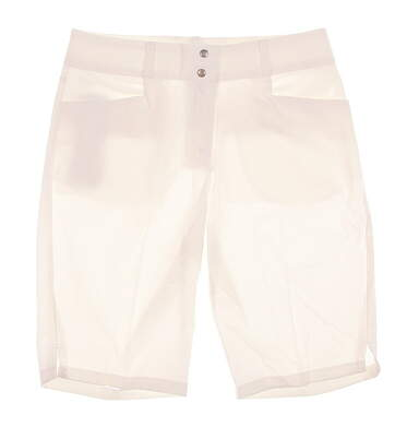 New Womens Adidas Essential Lightweight Bermuda Shorts Size 14 White MSRP $65 B82899