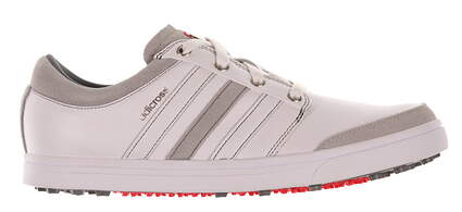 New Mens Golf Shoe Adidas Adicross Gripmore Medium 9.5 White/Grey MSRP $140
