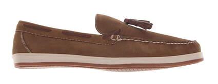 New Mens Golf Shoe Peter Millar Moccasin Medium 10.5 Brown MSRP $220