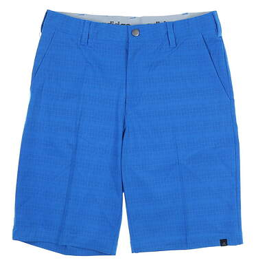 New Mens Adidas Ultimate Dot Plaid Shorts Size 30 Blue MSRP $70 AE4210