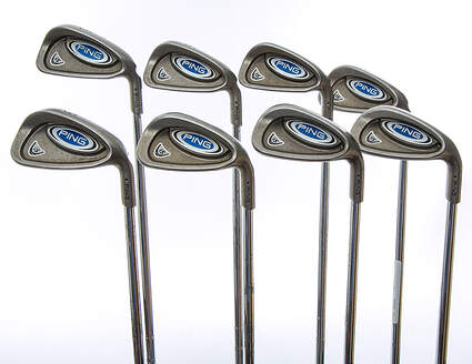 Ping i5 Iron Set 5-PW GW SW Ping AWT Steel Stiff Right Handed Red dot 38 in