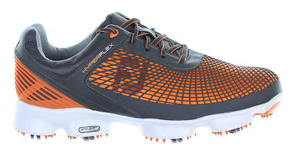 New Mens Golf Shoe Footjoy Hyperflex Medium 10 Gray/ Orange MSRP $200