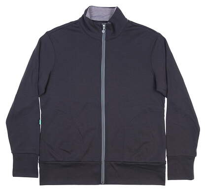 New Womens LinkSoul Full Zip Golf Sweatshirt X-Large XL Charcoal MSRP $105 LSW414