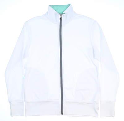 New Womens LinkSoul Full Zip Golf Sweatshirt Large L White MSRP $105 LSW414