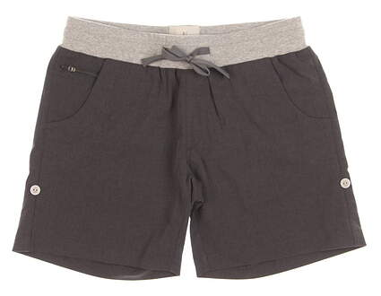 New Womens LinkSoul Golf Shorts Size Small S Black MSRP $75 LSW603