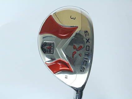 Tour Edge Exotics XCG-V Hybrid 3 Hybrid 18* Aldila NV 85 Hybrid Graphite X-Stiff Right Handed 41 in