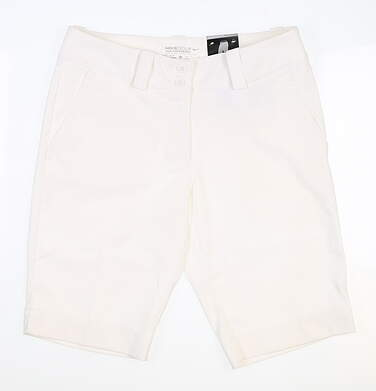 New Womens Nike Golf Shorts Size 4 White MSRP $70 618148