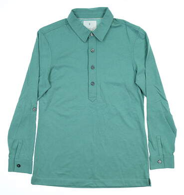 New Womens LinkSoul Long Sleeve Golf Polo Small S Green MSRP $76 LSW138