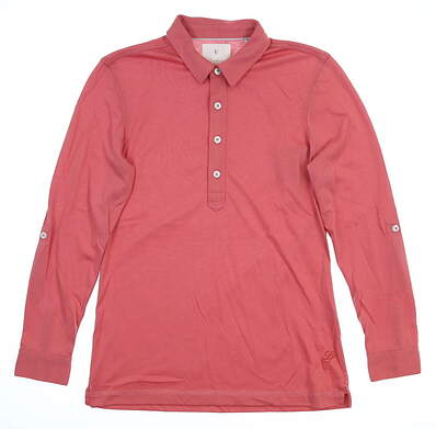 New Womens LinkSoul Long Sleeve Golf Polo Small S Red MSRP $76 LSW138
