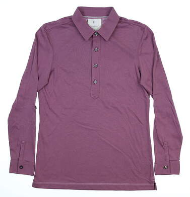 New Womens LinkSoul Long Sleeve Golf Polo Small S Purple MSRP $76 LSW138