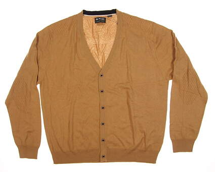 New Mens G-Mac McButton Cardigan X-Large XL Tan MSRP $125