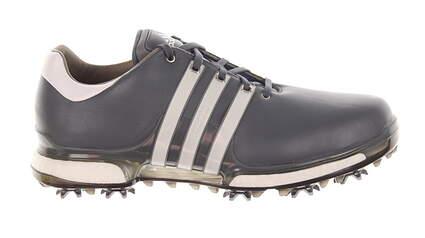 New Mens Golf Shoe Adidas Tour 360 Boost 2.0 Medium 9.5 Gray/White MSRP $200