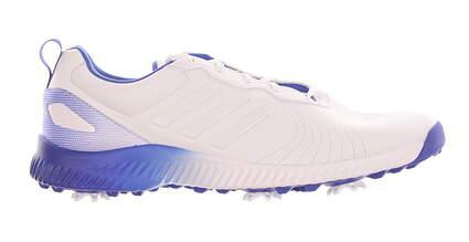New Womens Golf Shoe Adidas Response Bounce Medium 7.5 White/Blue MSRP $85