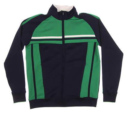 New Mens Bobby Jones R18 Track Jacket Medium M Green/Blue MSRP $148