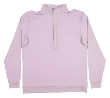 New Mens MATTE GREY HIGHTOWER 1/4 Zip Golf Pullover Medium M Purple (Peri Heather) MSRP $80 120091