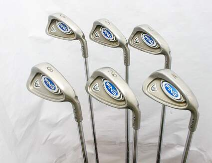 Ping i5 Iron Set 5-PW Ping CS Lite Steel Stiff Right Handed Blue Dot 38.25 in
