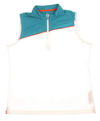 New Womens EP Pro Sleeveless Golf Polo Large L White MSRP $68