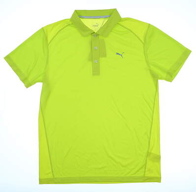 New Mens Puma Pounce Polo Small S Limepunch MSRP $65 570462 39