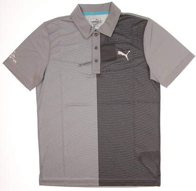 New Tour Issue Player Mens Puma Bisected Polo Small S Quarry 573275 02