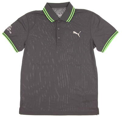 New Tour Issue Rickie Sample Mens Puma Pounce Pique Polo Small S Quiet Shade 572351 04