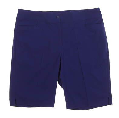 New Womens EP Pro Tech Golf Shorts Size 10 Navy Blue MSRP $86 8130NAC