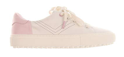 New Womens Tory Sport Perforated Golf Sneakers 5 Snow White/ Cotton Pink MSRP $250 36559