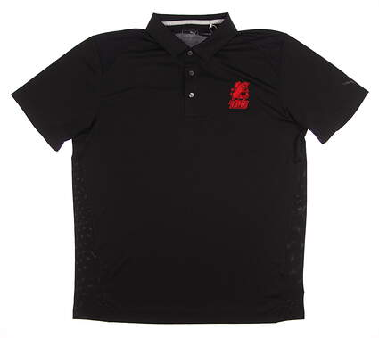 New W/ Logo Mens Puma Pounce Polo Large L Black 570463 01