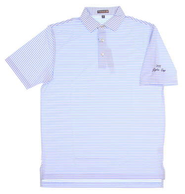 New W/ Logo Mens Peter Millar Golf Polo Large L Blue MSRP $85 MC0EK02S
