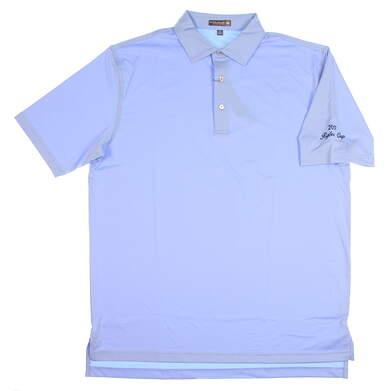 New W/ Logo Mens Peter Millar Golf Polo Medium M Blue MSRP $79 MC0EK01S