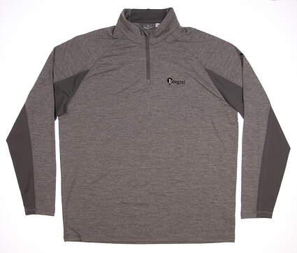 New W/ Logo Mens Puma Core 1/4 Zip Pullover Large L Medium Gray Heather 572366 03