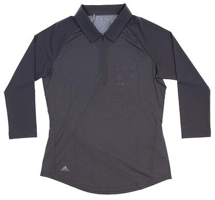 New Womens Adidas 1/4 Zip Golf Pullover Small S Gray MSRP $65